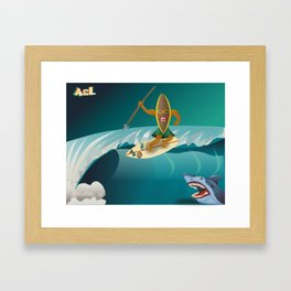Hunter on the waves Framed Art Print