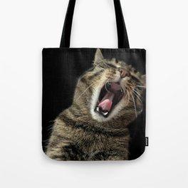 Cat Yawning Tote Bag