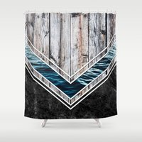 Striped Materials of Nature II Shower Curtain