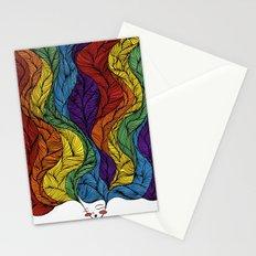 Rainbow Hair Stationery Cards