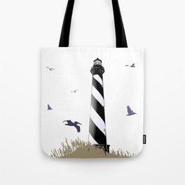 Cape Hatteras Lighthouse Beach Scene Tote Bag