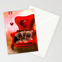 Cute little Yorkshire Terrier Stationery Cards