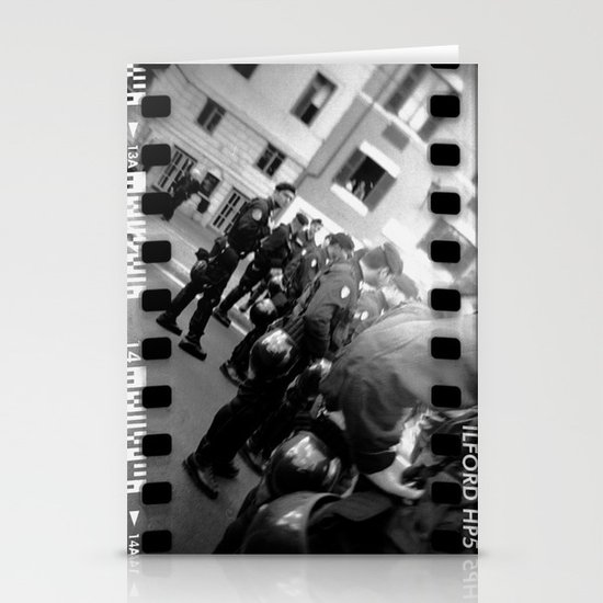 Roman student protest Stationery Cards