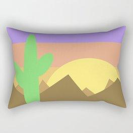 Arizona Desert Sunset Illustration Rectangular Pillow