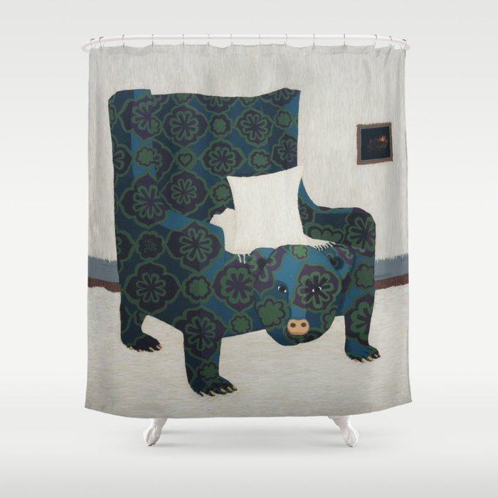 Polar Chair II Shower Curtain