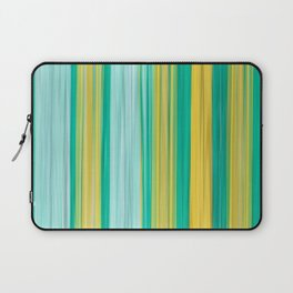 turquoise green yellow abstract striped pattern Laptop Sleeve