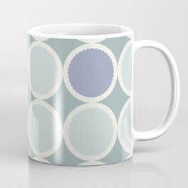Scalloped Circles in Dusty Teal Coffee Mug