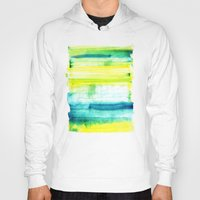 swimming Hoodies featuring Swimming Upstream by Picomodi