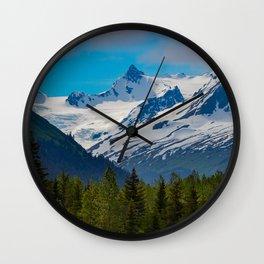 Bear_Creek Mountain Glacier - Alaska Wall Clock
