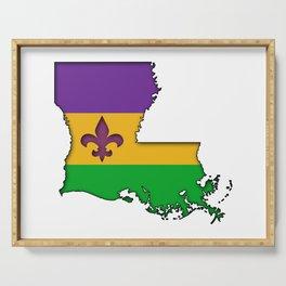 Louisiana Mardi Gras Love! Serving Tray