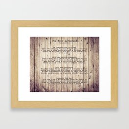 The Four Agreements 8 Framed Art Print