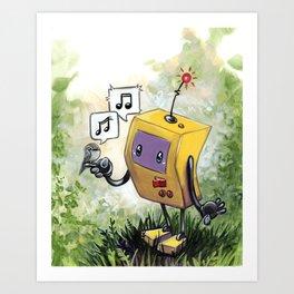 Bird Song Robot Art Print