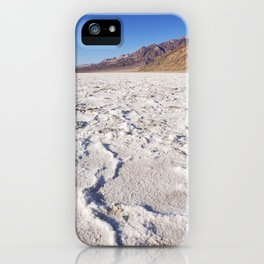 Badwater Basin salt flat in Death Valley National Park iPhone Case
