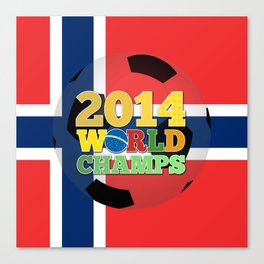 2014 World Champs Ball - Norway Canvas Print