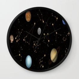 Coffee in Space 3 Wall Clock