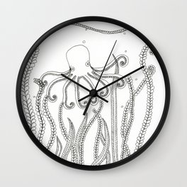 Octopod 1 Wall Clock