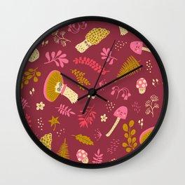 Fungi Friends Wall Clock