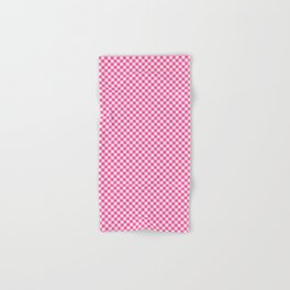 Pink Roses in Anzures 1 Gingham 1 Hand & Bath Towel