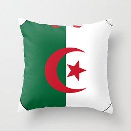 Coat_of_Arms_of_Algeria_(1962-1971) Throw Pillow