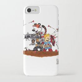 Calvin and Hobbes Inspired Hero Parody iPhone Case