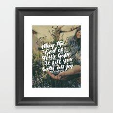 All Joy Framed Art Print