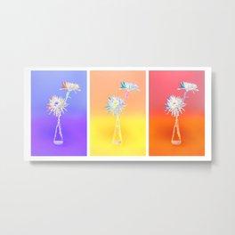 Flower Duo Triptych  1 Metal Print