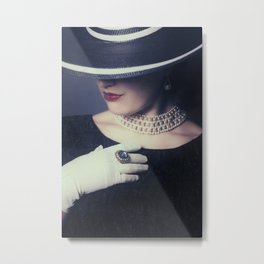 mysterious lady Metal Print