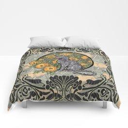 Cat Nouveau Comforters