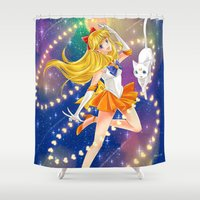 sailor venus Shower Curtains featuring Sailor Venus  by Moonsia