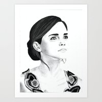 emma watson Art Prints featuring Emma Watson by Moira Sweeney