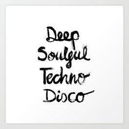 Techno Art Print