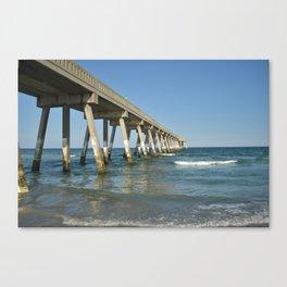 Boardwalk Into Ocean / Wrightsville Beach, NC Canvas Print