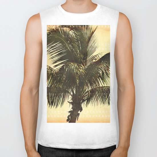 Palm On Film Biker Tank