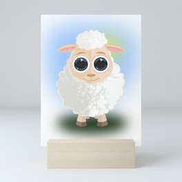 White Sheep Mini Art Print