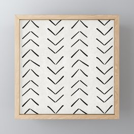 Mud Cloth Big Arrows in Cream Framed Mini Art Print
