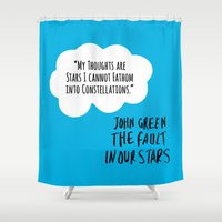 fault in our stars Shower Curtains featuring The Fault In Our Stars (Special Edition) by CATHERINE DONOHUE