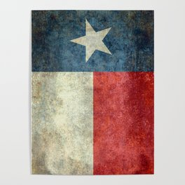 State flag of Texas, Lone Star Flag of the Lone Star State Poster