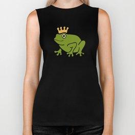 Frog Prince Pattern Biker Tank