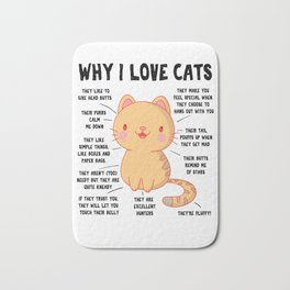 Cats Pet Funny Sweet Meow Meme Gifts Bath Mat
