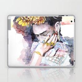 Frida Kahlo watercolor portrait Laptop & iPad Skin