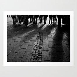 shadows in downtown Art Print