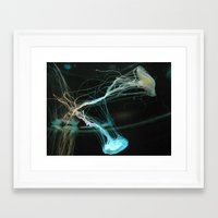 jelly fish Framed Art Prints featuring JELLY FISH by Chloe PurR