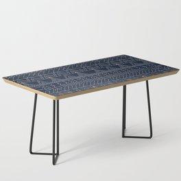 N53 - Blue Indigo Oriental Antique Traditional Moroccan Style Artwork Coffee Table