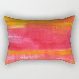 'Summer Day'  Orange Red Yellow Abstract Art Rectangular Pillow
