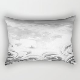 Fading Roses Silver Lining Rectangular Pillow