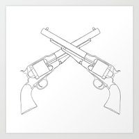 Pistolas Art Print