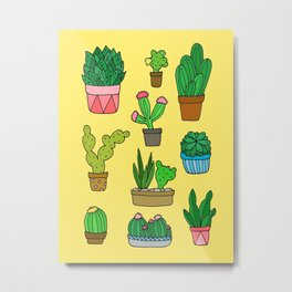 Plant Love (Bright Yellow) Metal Print