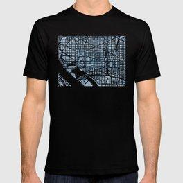 Washington DC Blueprint watercolor map T-shirt