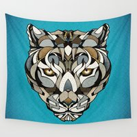 leopard Wall Tapestries featuring Leopard by Andreas Preis