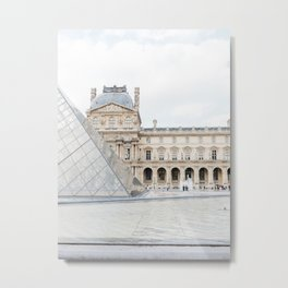 The Louvre, Paris, France | Fine Art Travel Photography  Metal Print